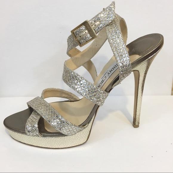 158e0689406 Jimmy Choo Shoes - Jimmy Choo   Glitter Vamp Multi strap Platform